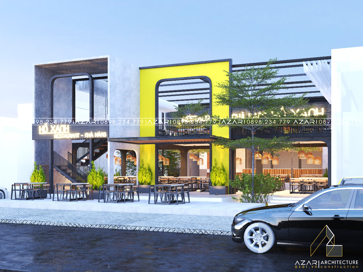 NHÀ HÀNG HỒ XANH _ Thiết kế & Thi công Nhà hàng đẹp Đà Nẵng