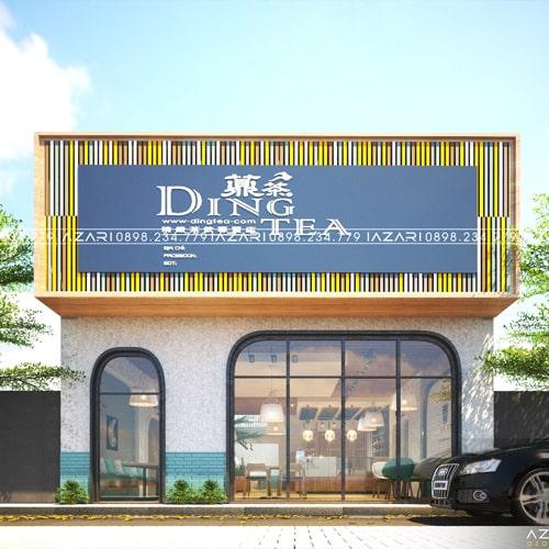 DINGTEA ĐÔNG HÀ – Thiết kế tiệm Trà sữa đẹp