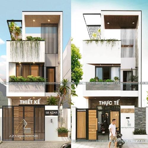 Thiết kế Nhà đẹp Đà Nẵng AZAR – NHÀ CHỊ HOÀNG
